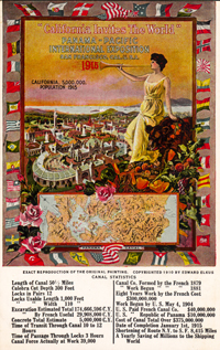 California Invites the World to the PPIE, Postcard